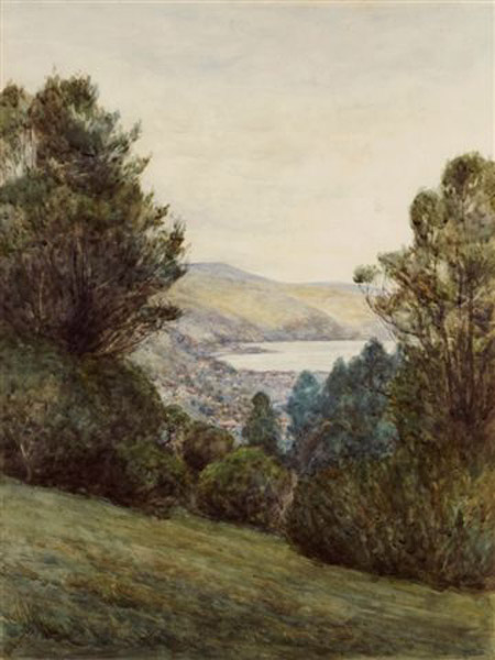 Fred Sedgwick,View from Botanical Gardens, watercolour. UHPC1-18