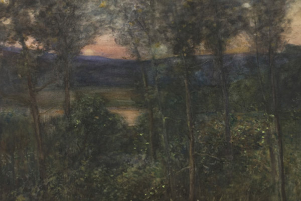 John Baillie, Evening Shadows, 1890s, watercolour. 2 Collection Wellington City Council