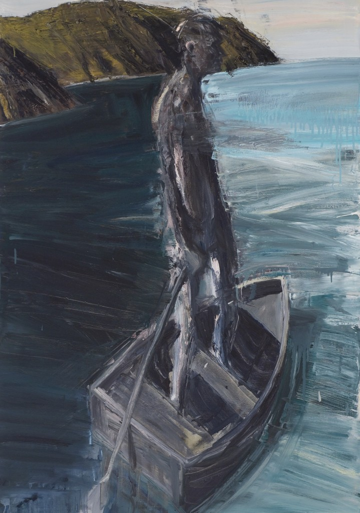 Boatman 2, 2005. Oil on canvas, 120 x 84 cm