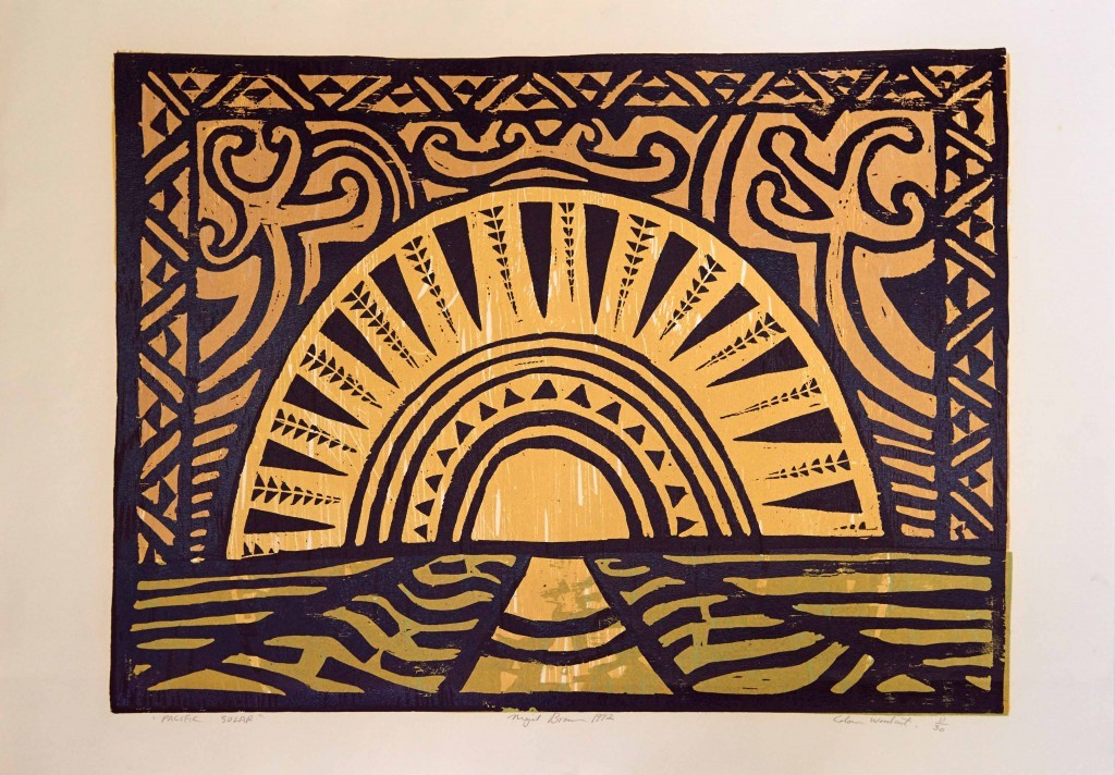 Pacific solar. Woodcut print on paper,1992
