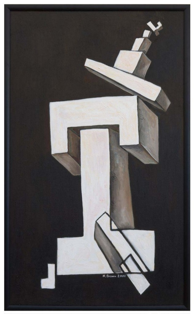Structure with Precarious Aspects. Oil on linen, 2006