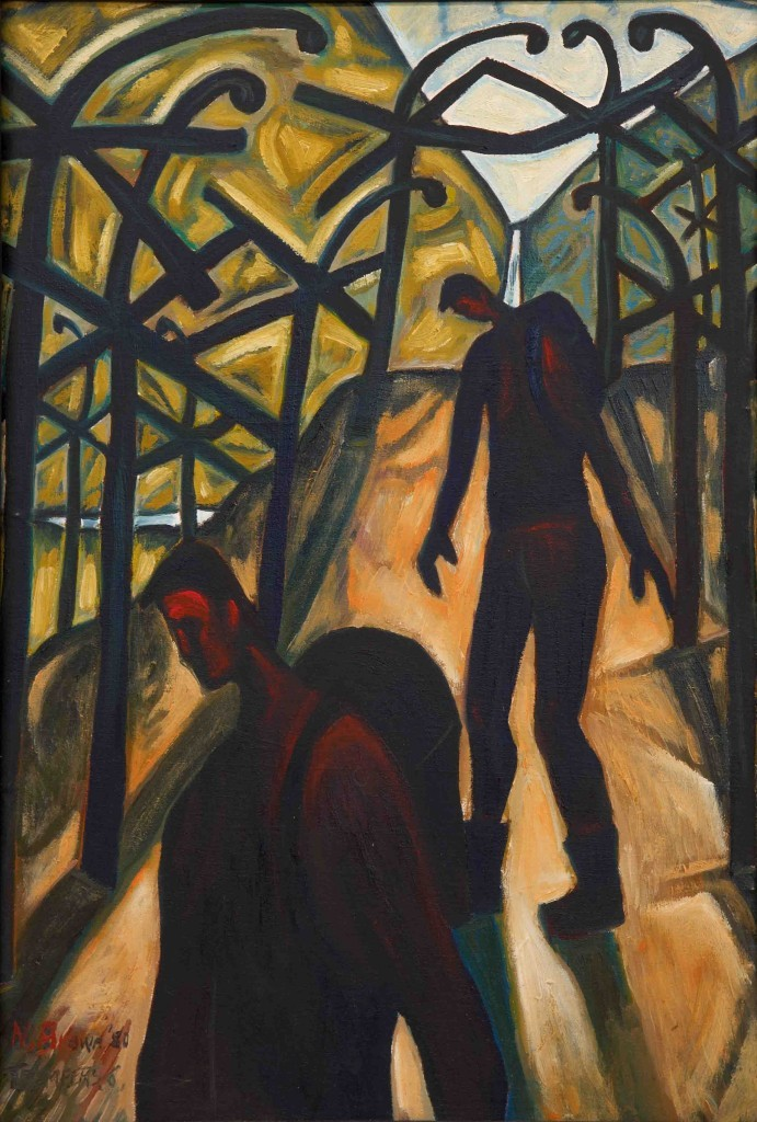 Trampers #6. Oil on canvas, 1980.