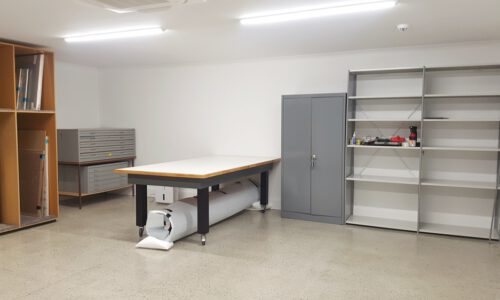 Storage for works on paper and 3D objects